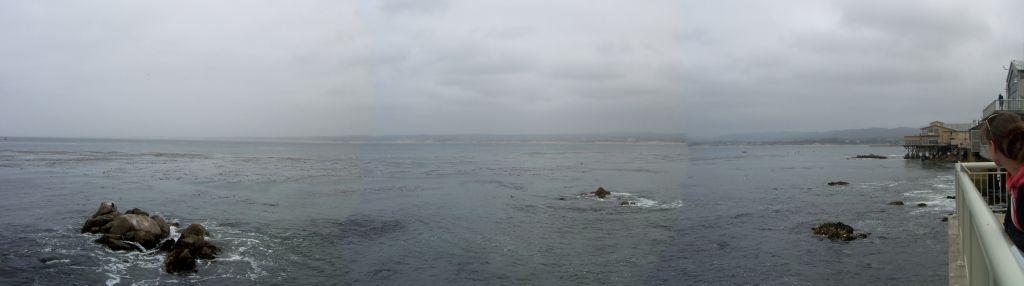 Panorama vom Blick auf den Pazifik